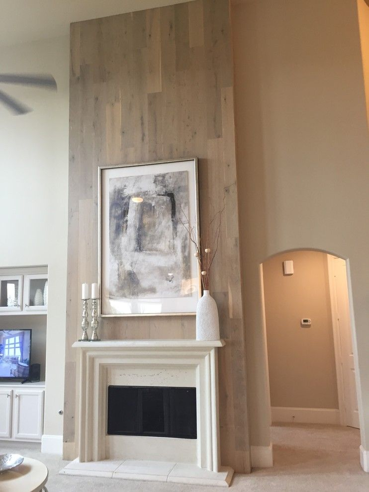 Winslow Homer Artwork for a Transitional Family Room with a Mantle Shelf on Wood and Winslow Iii by Cast Fireplaces, Inc.