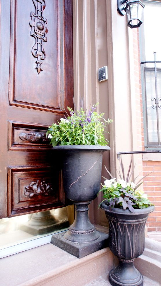 Winston Flowers Boston for a Traditional Exterior with a Brownstone and Claremont Park by Melissa Miranda Interior Design