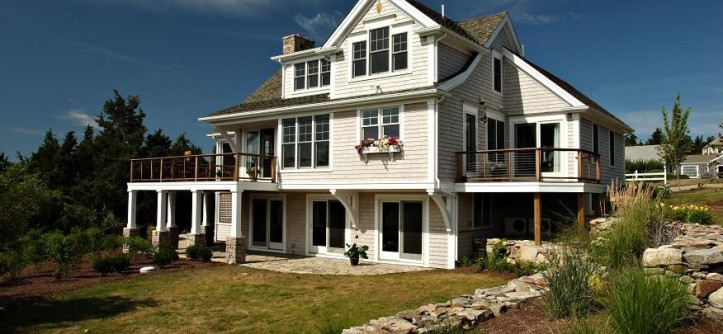 Winston Flowers Boston for a Traditional Exterior with a Walk Out Basement and Cape Cod Home Renovation by Encore Construction