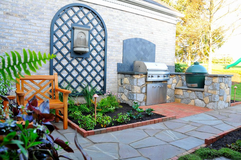 Wolf Furniture Lancaster Pa for a Traditional Landscape with a Teak Furniture and Lancaster Pa. Outdoor Kitchen Courtyard by Fernhill Landscapes