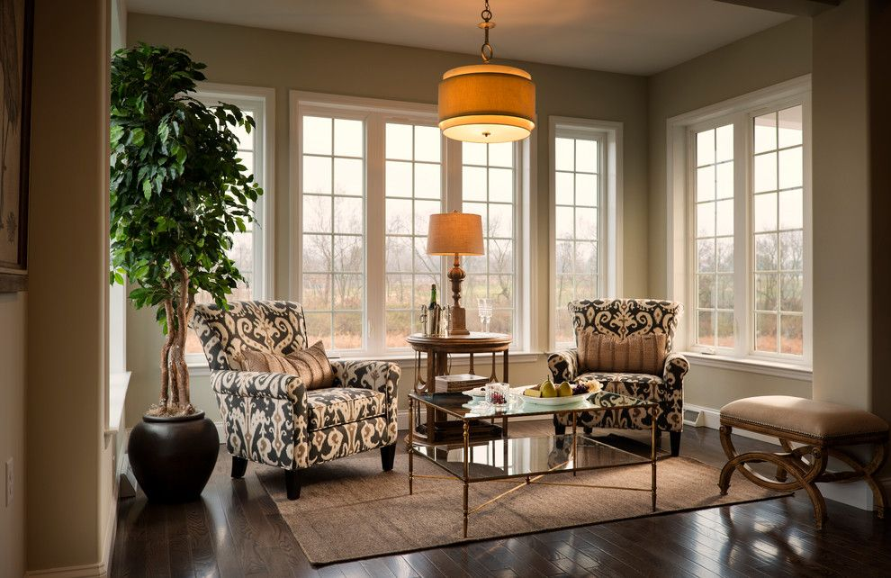 Wolf Furniture Lancaster Pa for a Traditional Living Room with a Wall of Windows and Grandview Model Home, Lancaster Pa, Charter Homes & Neighborhoods by Charter Homes & Neighborhoods