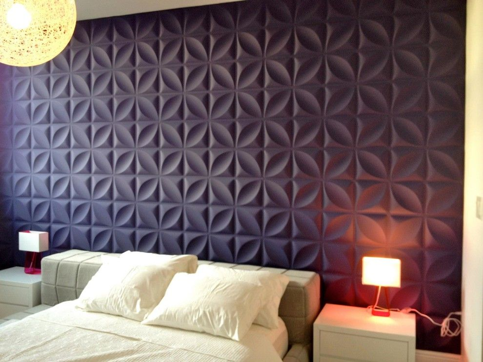 Wolf Gordon Wallcovering for a  Bedroom with a Clarke Clarke and the Peninsula I, Aventura by the Wallpaper Company