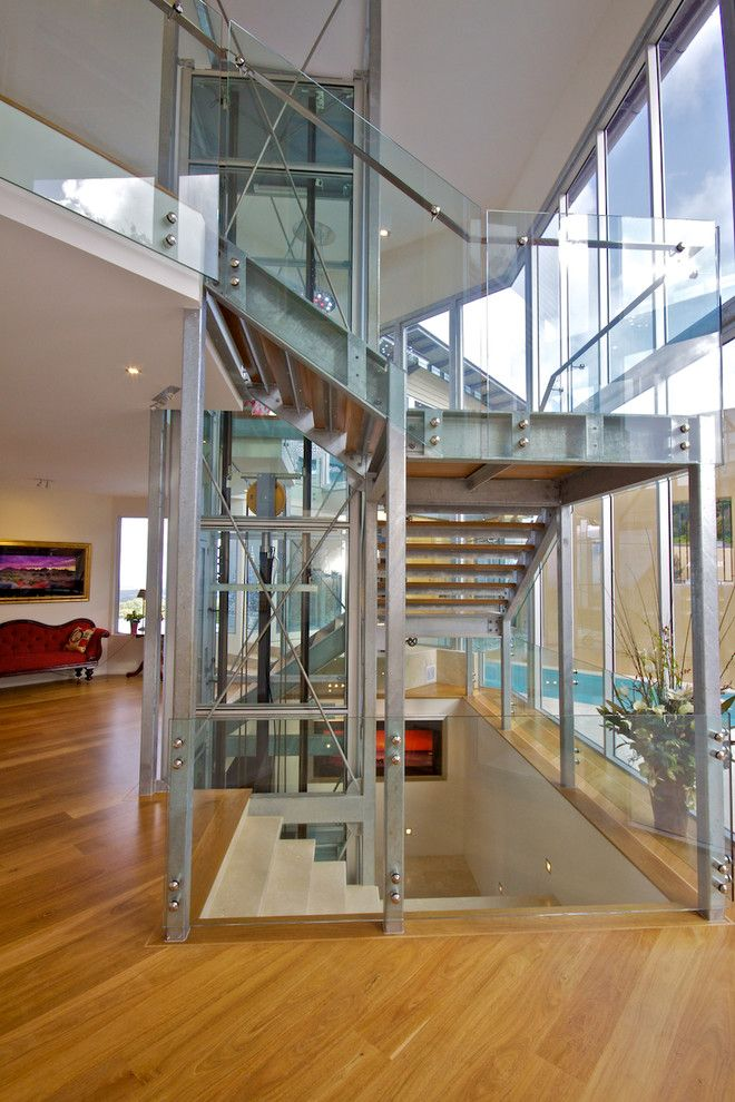 Wolseley Industrial Group for a Contemporary Staircase with a Wood Floor and New Residence, Eumundi by Brd Group