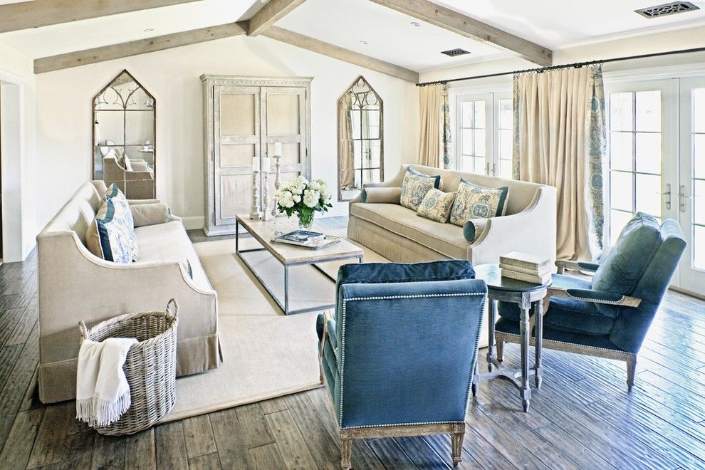 Wolseley Industrial Group for a Shabby-Chic Style Living Room with a Neutral Colors and Living Room by the Refined Group