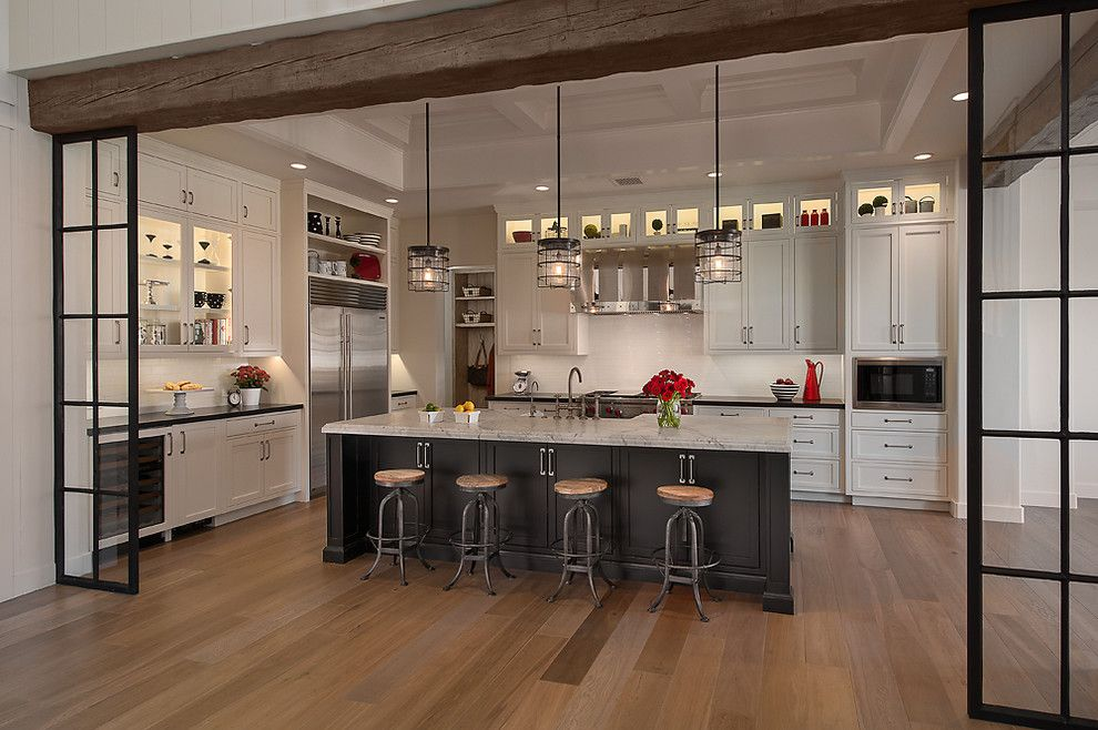Wolseley Industrial Group for a Traditional Kitchen with a Grey Kitchen Island and Park Place at Silverleaf by Calvis Wyant Luxury Homes