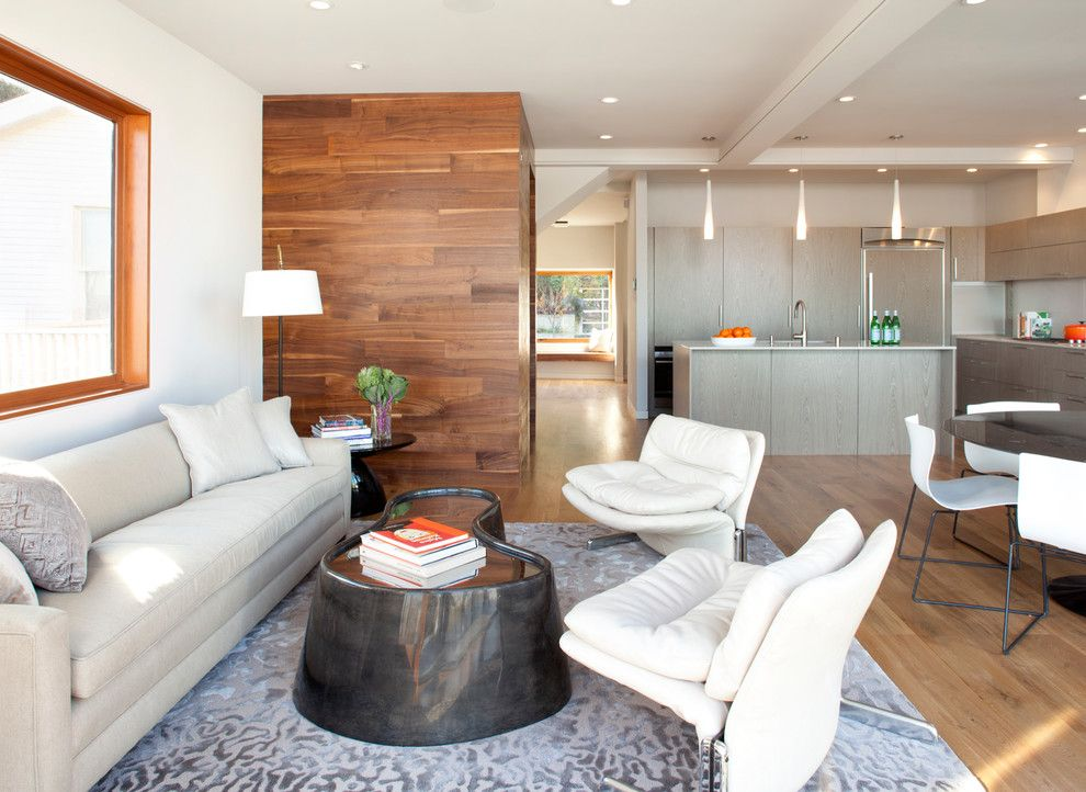 Wood Lathe Projects for a Contemporary Living Room with a Recessed Lighting and Quantum Windows & Doors | Mcelroy Architecture by Quantum Windows & Doors