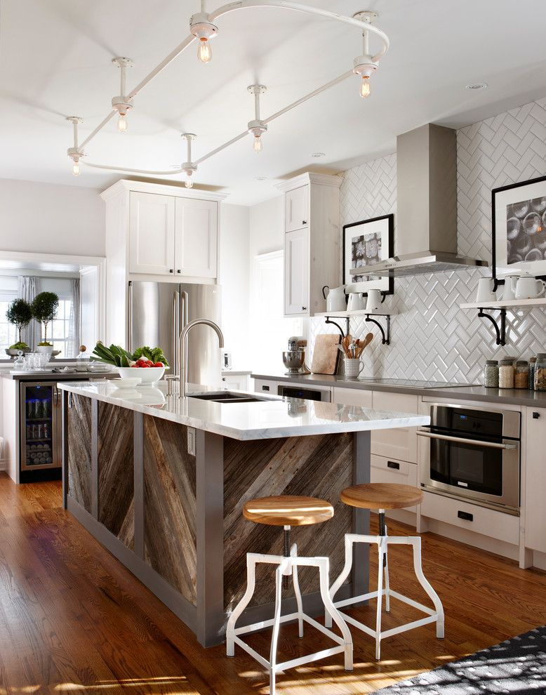 Wood Lathe Projects for a Traditional Kitchen with a Kitchen Island and Sarah Richardson Design by Stacey Brandford Photography