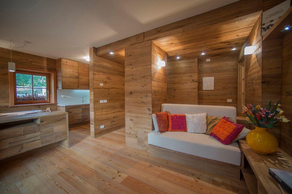Woodco for a Craftsman Family Room with a Legno and Ristrutturazione Appartamento by Woodco