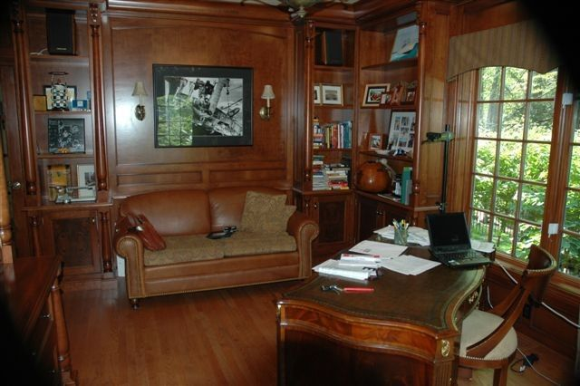 Woodcraft Furniture for a Traditional Home Office with a Custom and Gentlemen's Office by Superior Woodcraft, Inc.