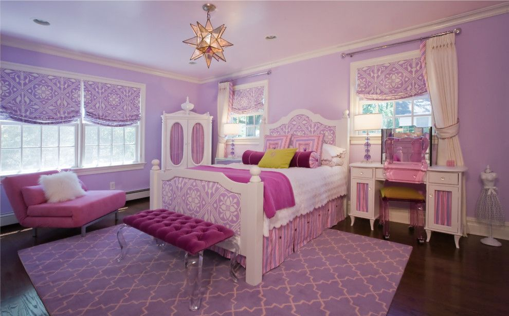 Woodcraft Furniture for a Traditional Kids with a Isabella Doll Chest and Little Girls Bedroom 1 by Paula Caponetti Designs Llc