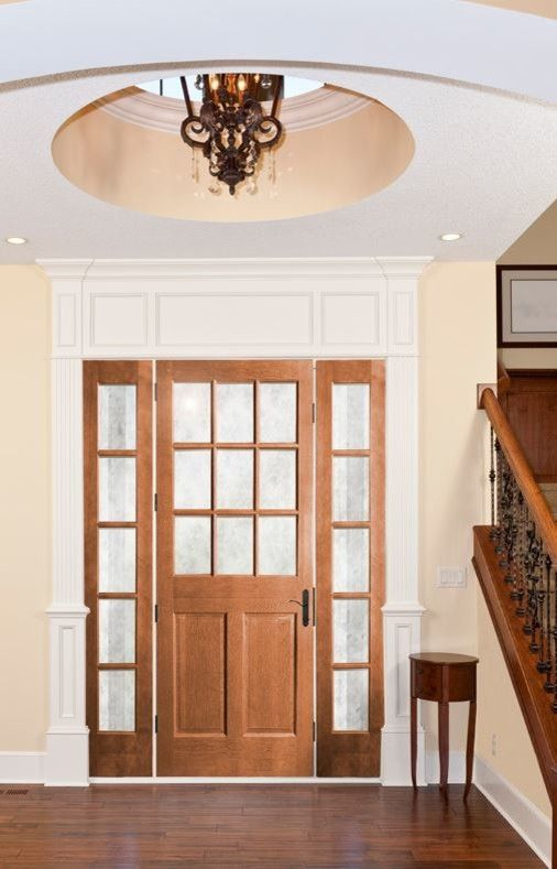 Woodgrain Doors for a Traditional Entry with a Exterior Door and Curb Appeal with a New Front Door by Southern Supply