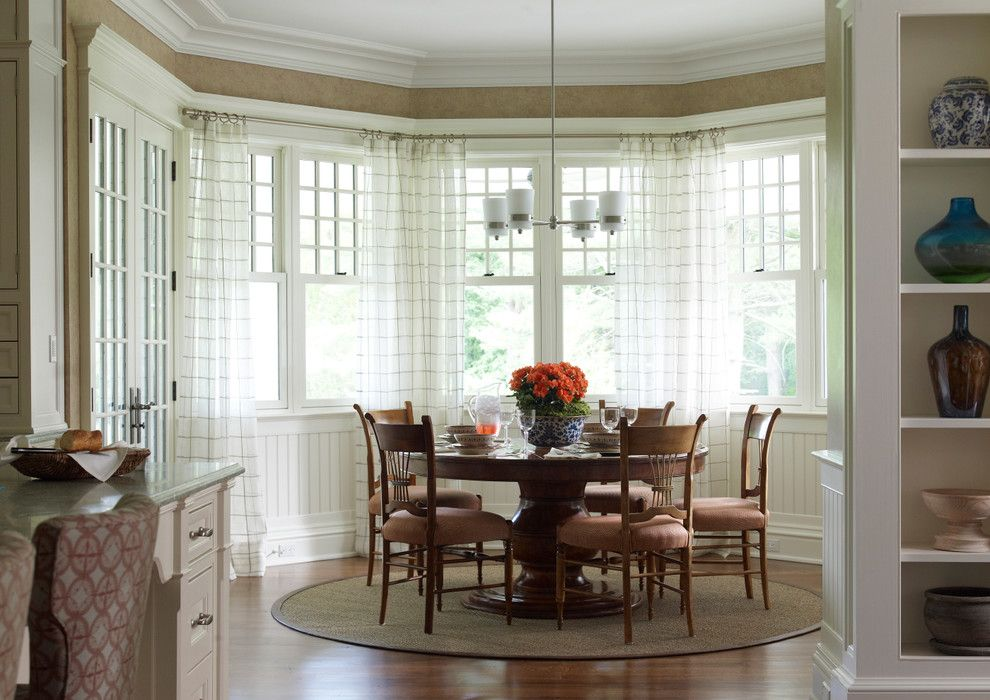 Woodlake Country Club for a Traditional Dining Room with a Crown Molding and New Canaan Private Residence by Country Club Homes
