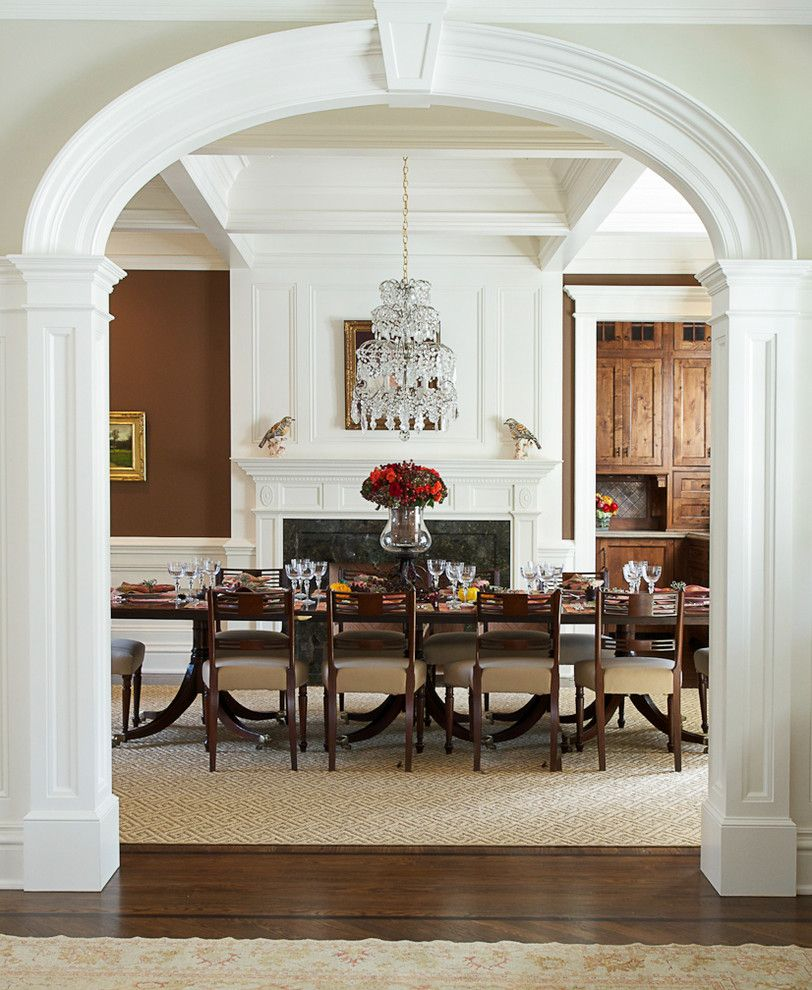 Woodlake Country Club for a Traditional Dining Room with a Fireplace and Smith Ridge Iii by Country Club Homes