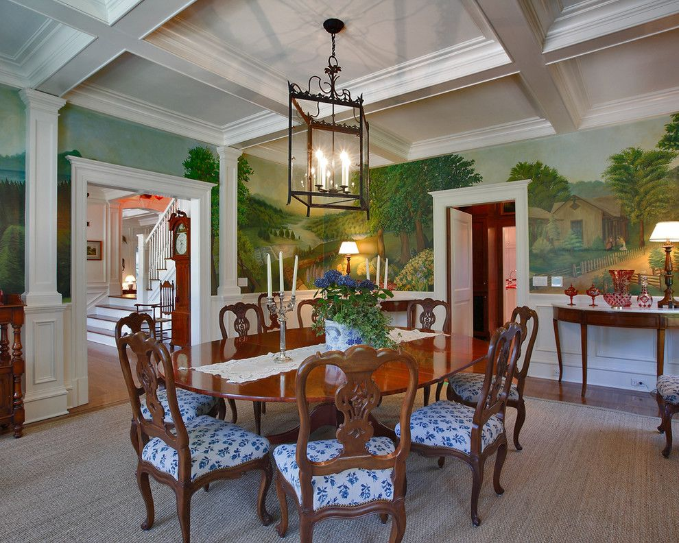 Woodlake Country Club for a Traditional Dining Room with a Wall Mural and Smith Ridge I by Country Club Homes