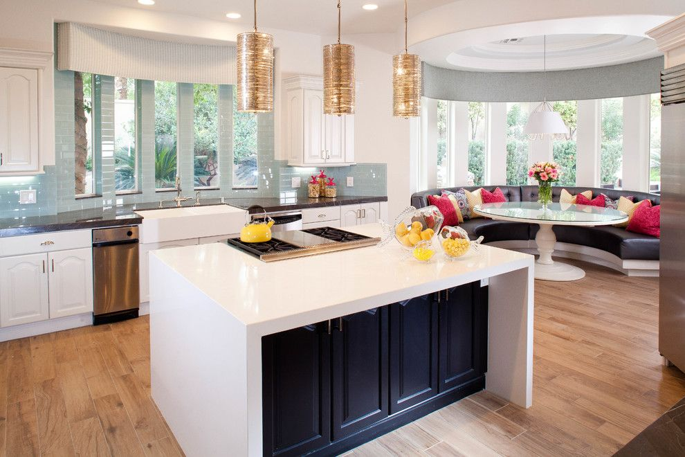 Woodland Hills Lexus for a Contemporary Kitchen with a Waterfall Island and Eagle Hills by P. Scinta Designs, Llc