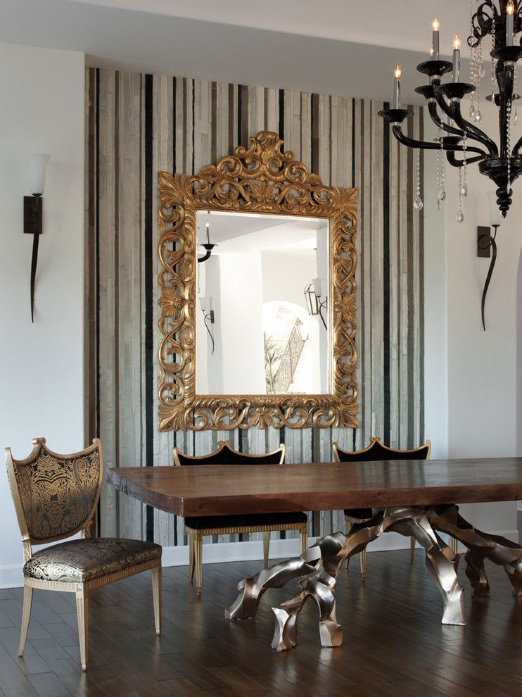 Woodland Hills Lexus for a Modern Dining Room with a Wallpaper and Los Gatos Residence by Lizette Marie Interior Design