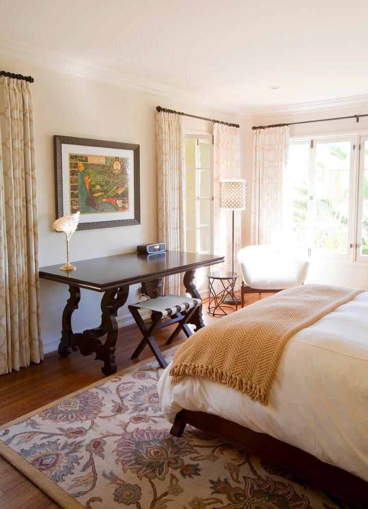 Woodland Hills Lexus for a Transitional Bedroom with a Drapes and Hollywood Hills Home by Laura U, Inc.