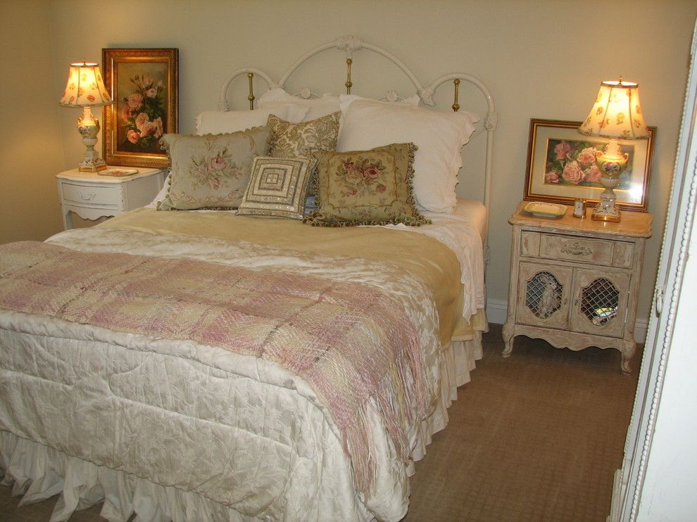 Woodland Hills Utah for a Traditional Bedroom with a Roses and Complete Home Renovation Romantic Guest Bedroom Woodland Hills, Ca by Barbara Stock Interior Design