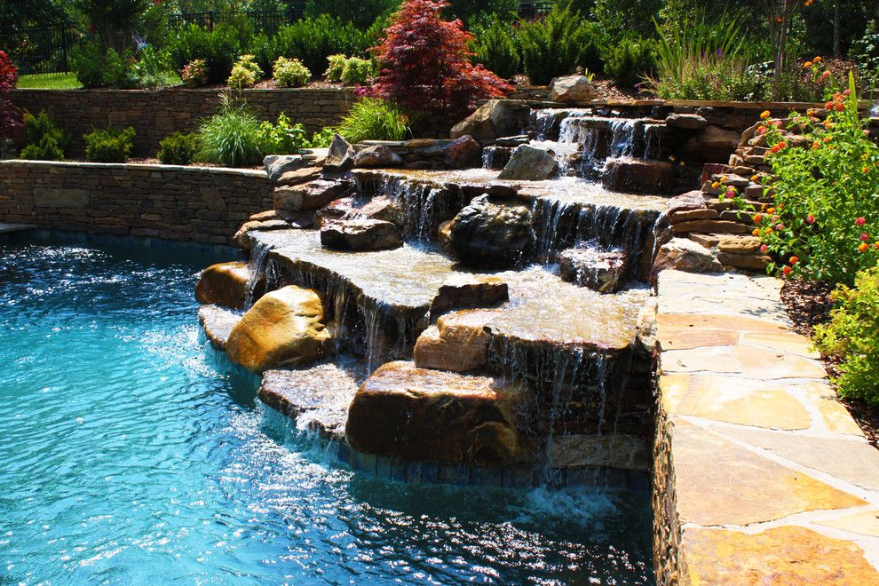 Woodlands Nashville for a Traditional Pool with a Landscape Architect and Jackson Residence Woodland Pool Design by J. Brownlee Design