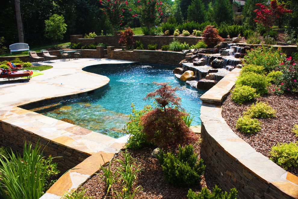 Woodlands Nashville for a Traditional Pool with a Woodland and Jackson Residence Woodland Pool Design by J. Brownlee Design