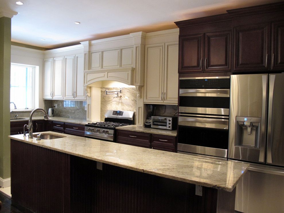 Woodwork Brooklyn for a Contemporary Kitchen with a Contemporary and Full Kitchen Renovation in Crown Heights, Brooklyn by Crown Woodworking Corp