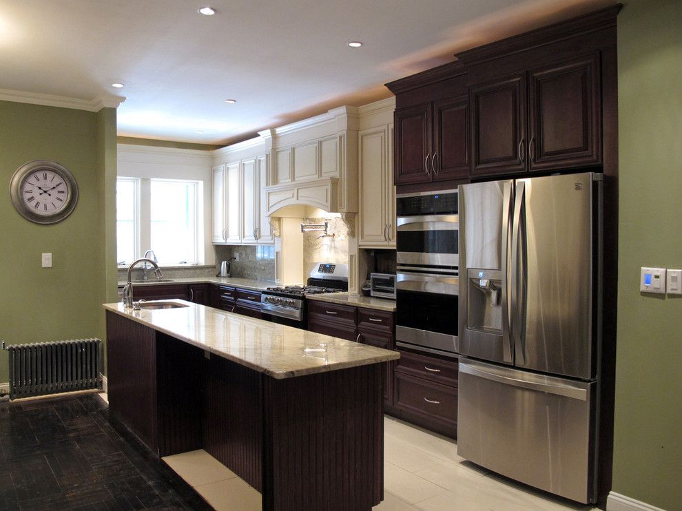 Woodwork Brooklyn for a Contemporary Kitchen with a Kitchen and Full Kitchen Renovation in Crown Heights, Brooklyn by Crown Woodworking Corp