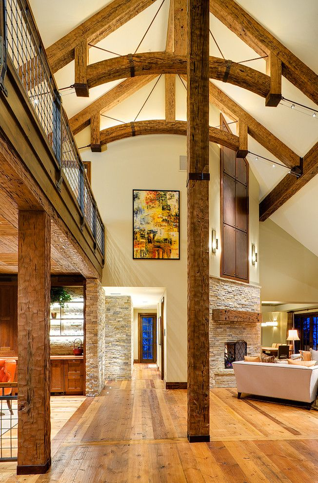 Woody Creek Colorado for a Contemporary Living Room with a Mountain Home and Beaver Creek Re Creation by Cohen Construction Inc.