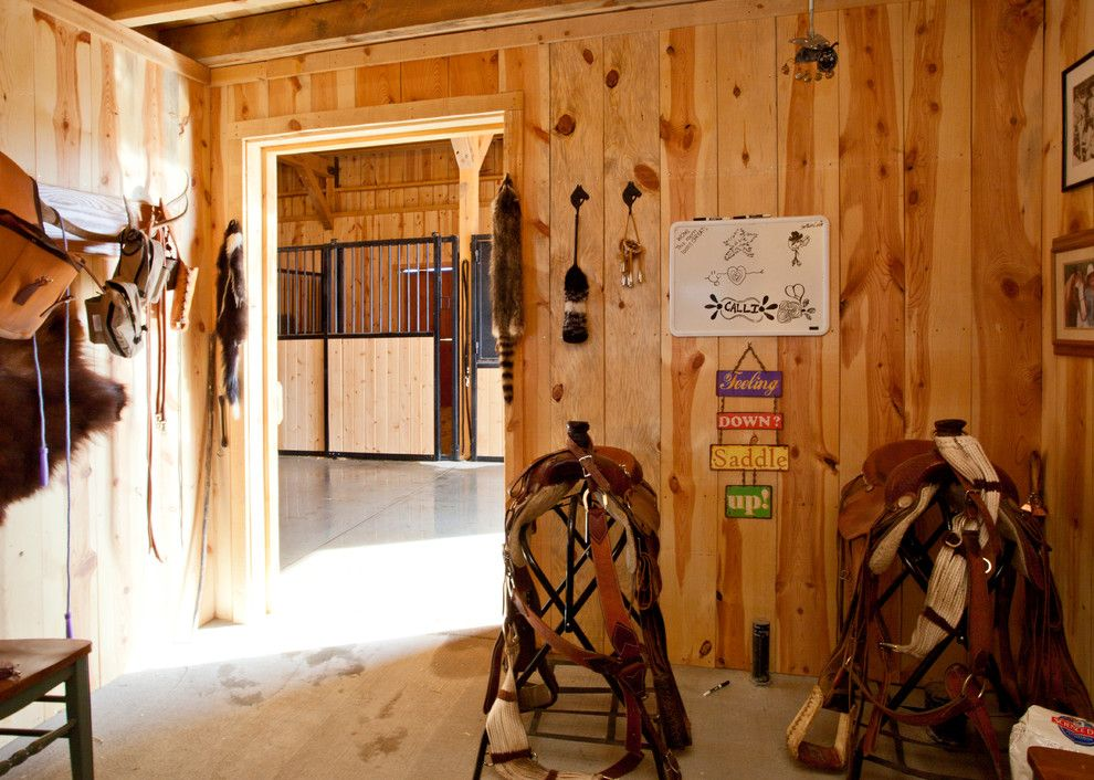 Woody Creek Colorado for a Farmhouse Entry with a Rustic Siding and Horse Barn in Colorado by Sand Creek Post & Beam