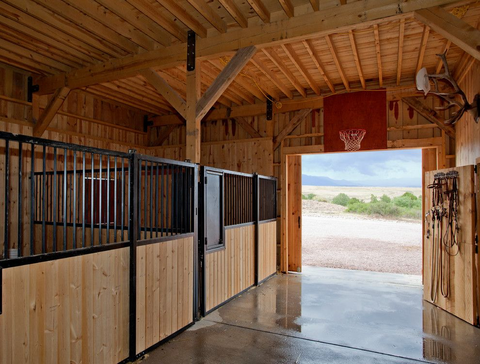 Woody Creek Colorado for a Farmhouse Shed with a Rustic Siding and Horse Barn in Colorado by Sand Creek Post & Beam