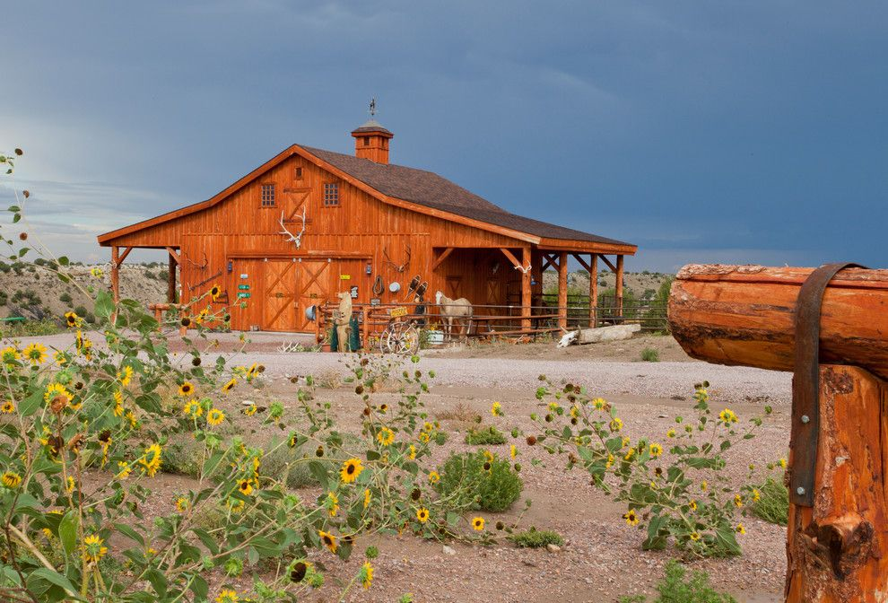 Woody Creek Colorado for a Farmhouse Shed with a Wood Shed and Horse Barn in Colorado by Sand Creek Post & Beam