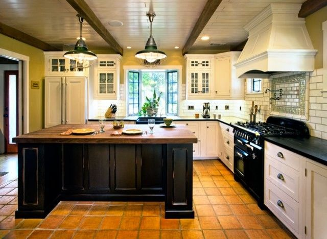 Www.coasterfurniture.com for a Beach Style Kitchen with a Kitchen Cabinets and Hahka Happy Cottage Kitchen by Dura Supreme Cabinetry