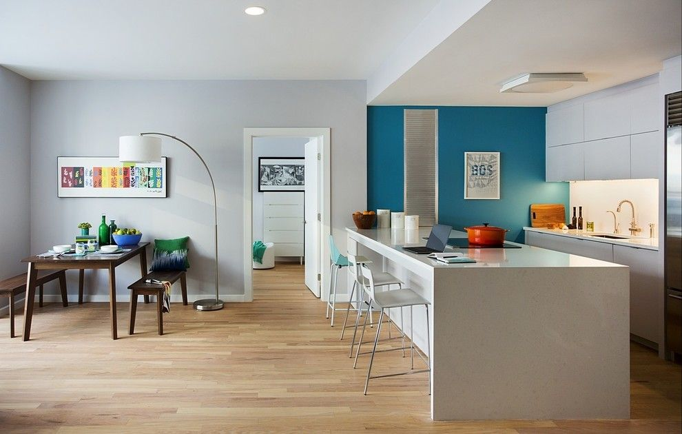 Www.coasterfurniture.com for a Contemporary Kitchen with a Urban Style and Causeway Condominium by Zeroenergy Design
