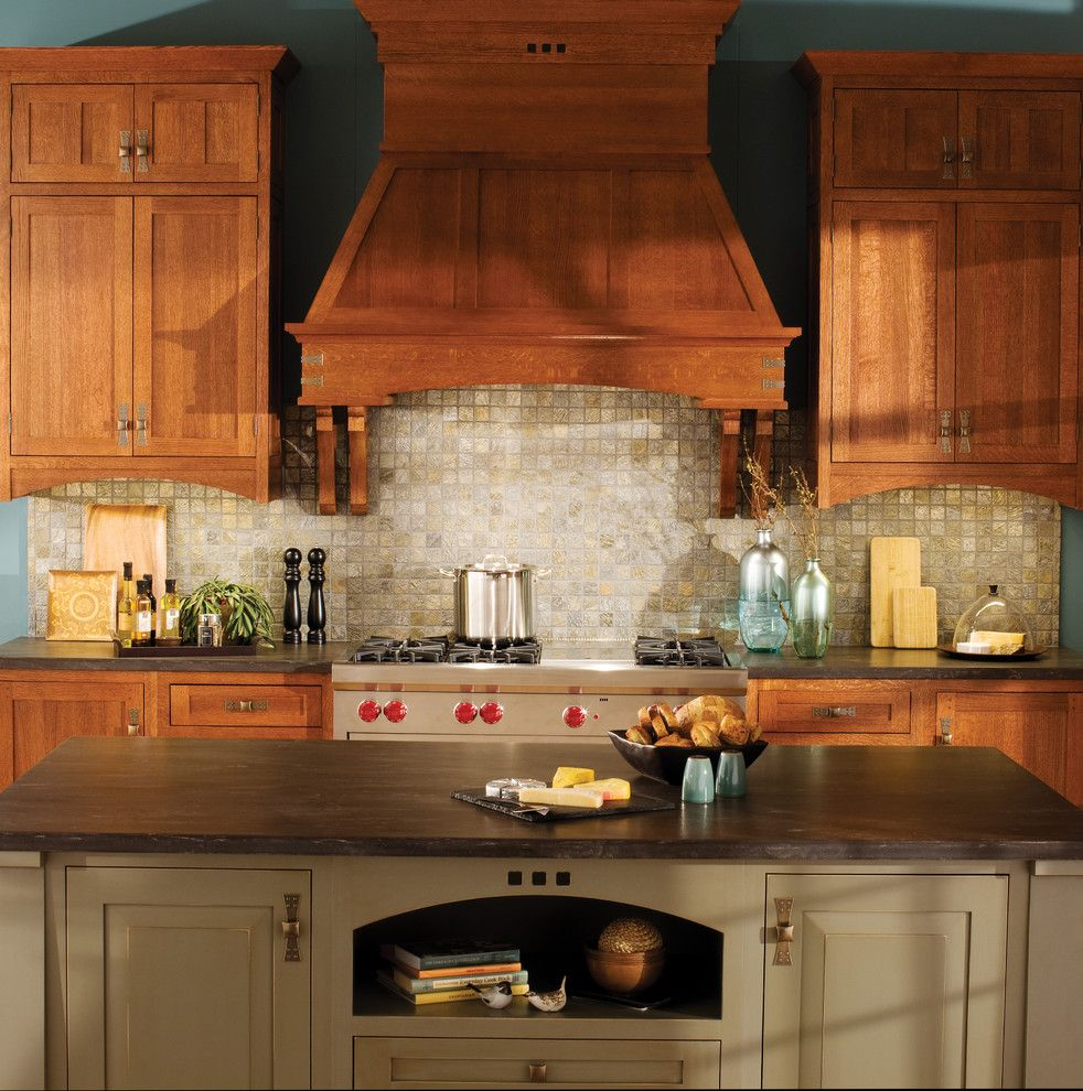 Www.esmas.com for a Craftsman Kitchen with a American Made and Craftsman Creation by Dura Supreme Cabinetry