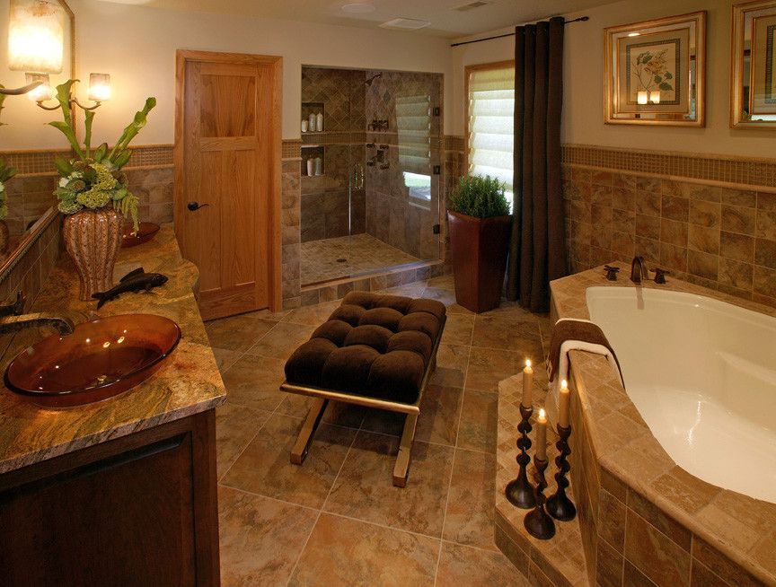 Www.esmas.com for a Traditional Bathroom with a Traditional and Restrooms by Kamarron Design, Inc.