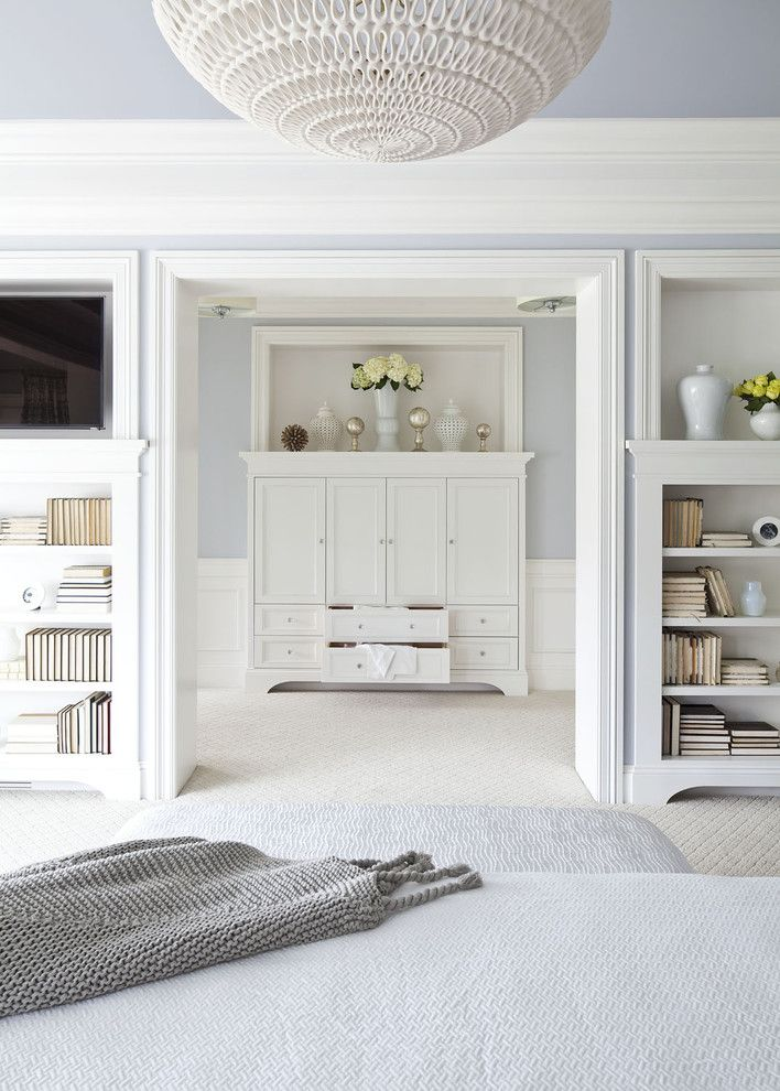 Www.esmas.com for a Transitional Bedroom with a Armoire and Parkwood Road Residence Master Bedroom 2 by Martha O'hara Interiors