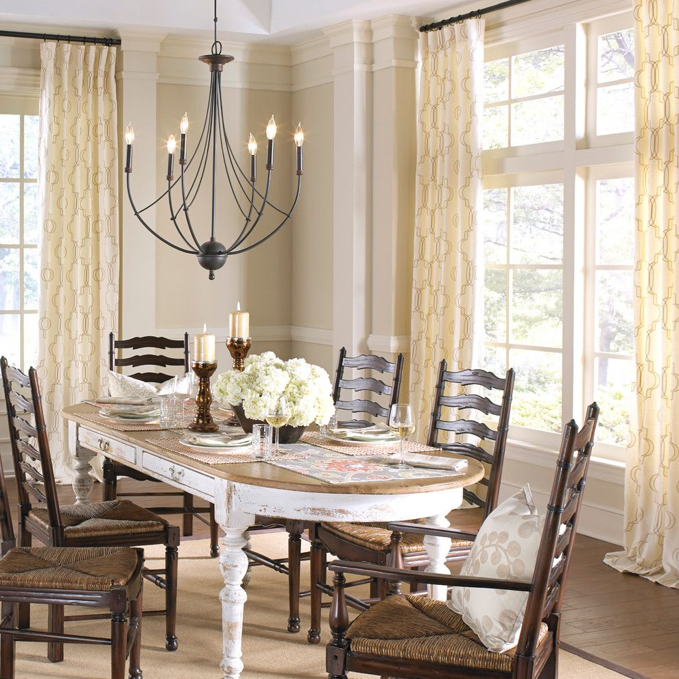 Wwwpalmbeachpost For A Farmhouse Dining Room With Euro Pleat And