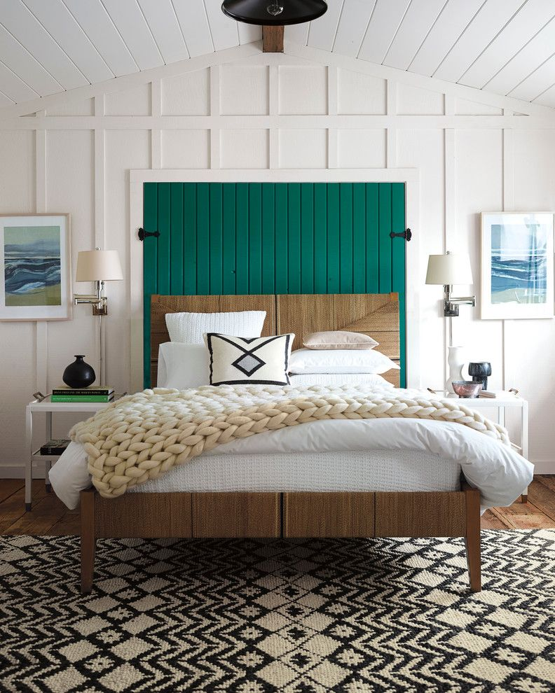 Www.raymourflanigan.com for a Beach Style Bedroom with a Geometric Patterns and Bedroom by Serena & Lily