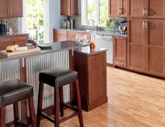 www.raymourflanigan.com for a Contemporary Kitchen with a Cherry Cabinets and Breckenridge Cherry Spice by Shenandoah Cabinetry