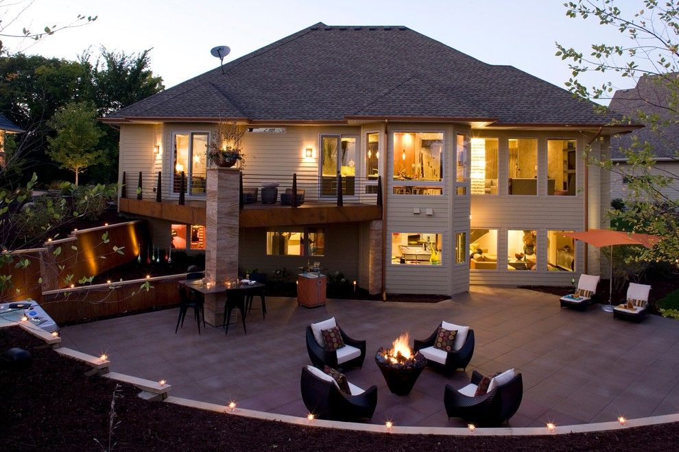 Www.raymourflanigan.com for a Contemporary Patio with a Patio Furniture and the Crib by Jaque Bethke for Pure Design Environments Inc.