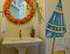 Wychmere Beach Club for a Eclectic Bathroom with a Beadboard and Knot on Call by Blue Sky Building Company