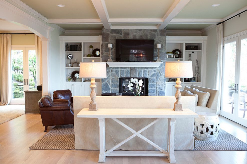 Wychmere Beach Club for a Traditional Family Room with a White Sofa and Family Room by Jenny Baines, Jennifer Baines Interiors
