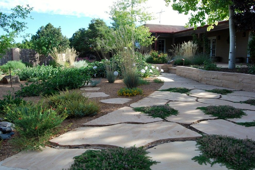 Xeric for a Asian Landscape with a Native and Santa Fe Permaculture/ Xeric Garden by Permadesign, Inc.