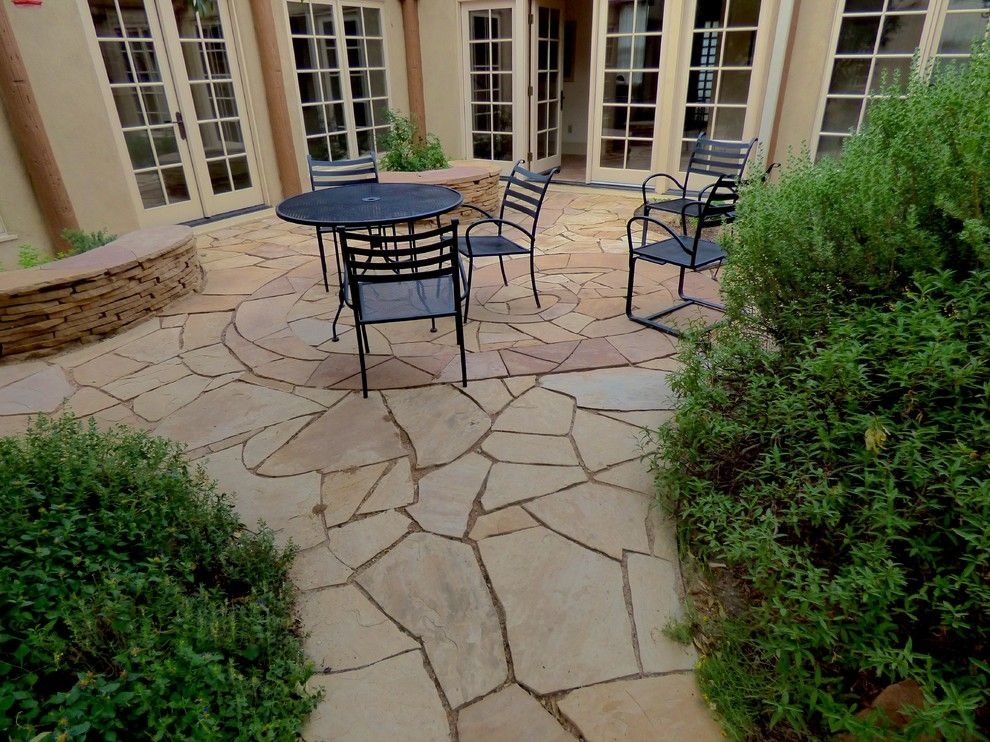 Xeric for a Southwestern Spaces with a Flagstone Patio and Xeric Courtyard by Waterwise Landscapes Incorporated