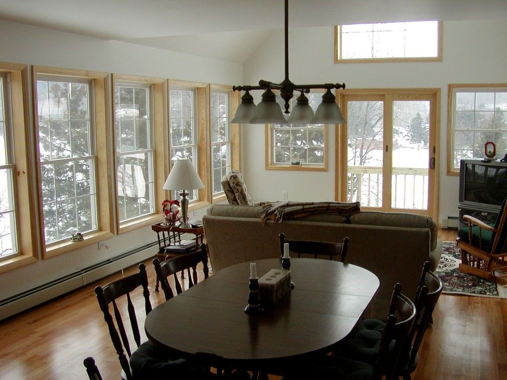 Xroom for a Traditional Dining Room with a Dining Room and Brunswick Town Lake by M. Besse Architect, Pllc