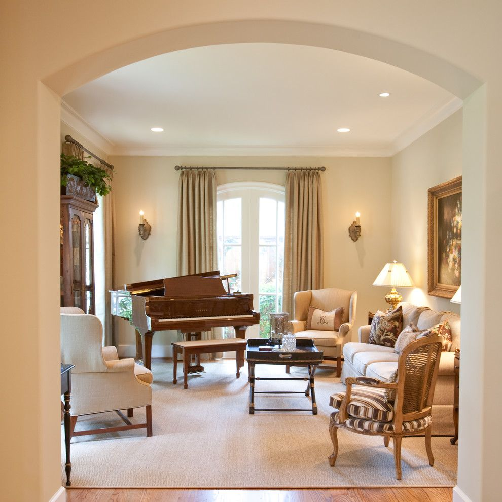 Xroom for a Traditional Family Room with a Tan Sofa and French Country by Creative Touch Interiors