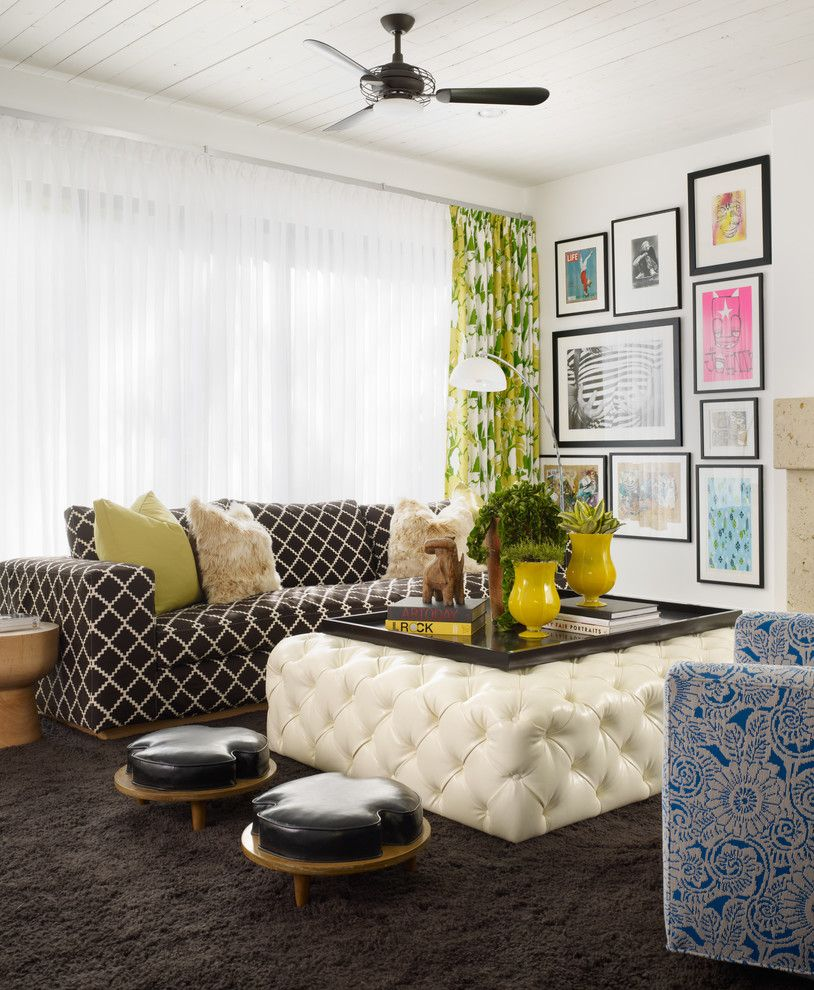 Zack White Leather for a Contemporary Family Room with a Topper and Fashionably Bold by Pal + Smith
