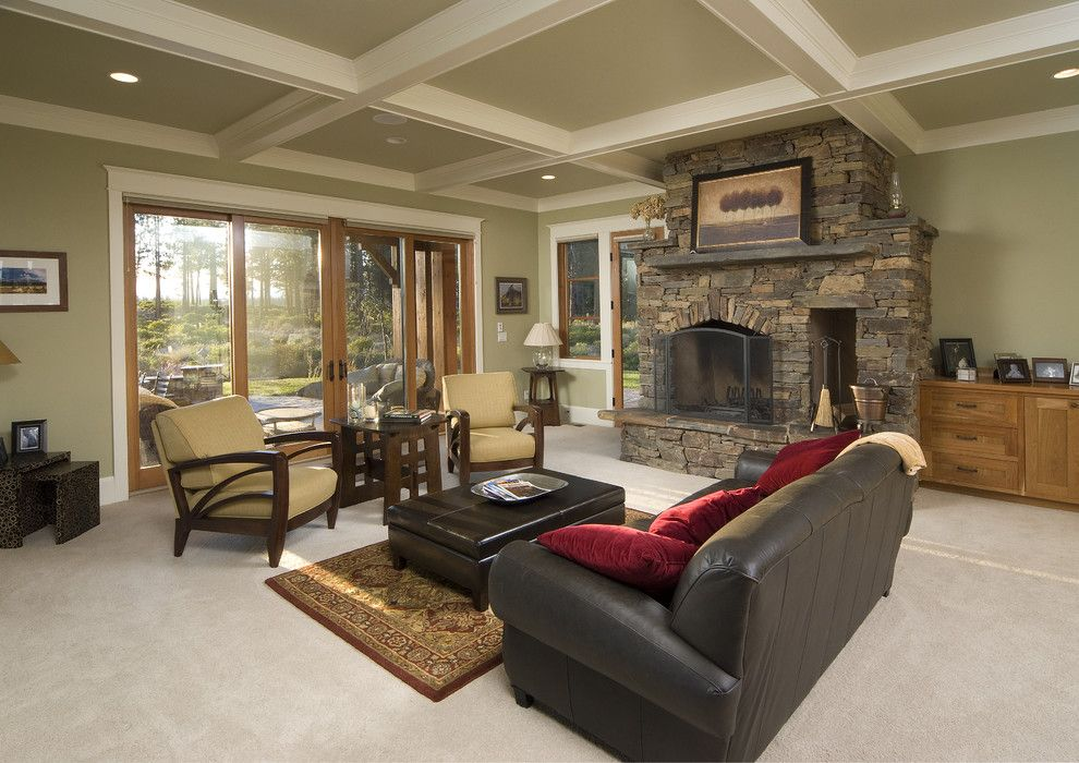 Zack White Leather for a Traditional Family Room with a Arm Chair and Campbel by Christian Gladu Design