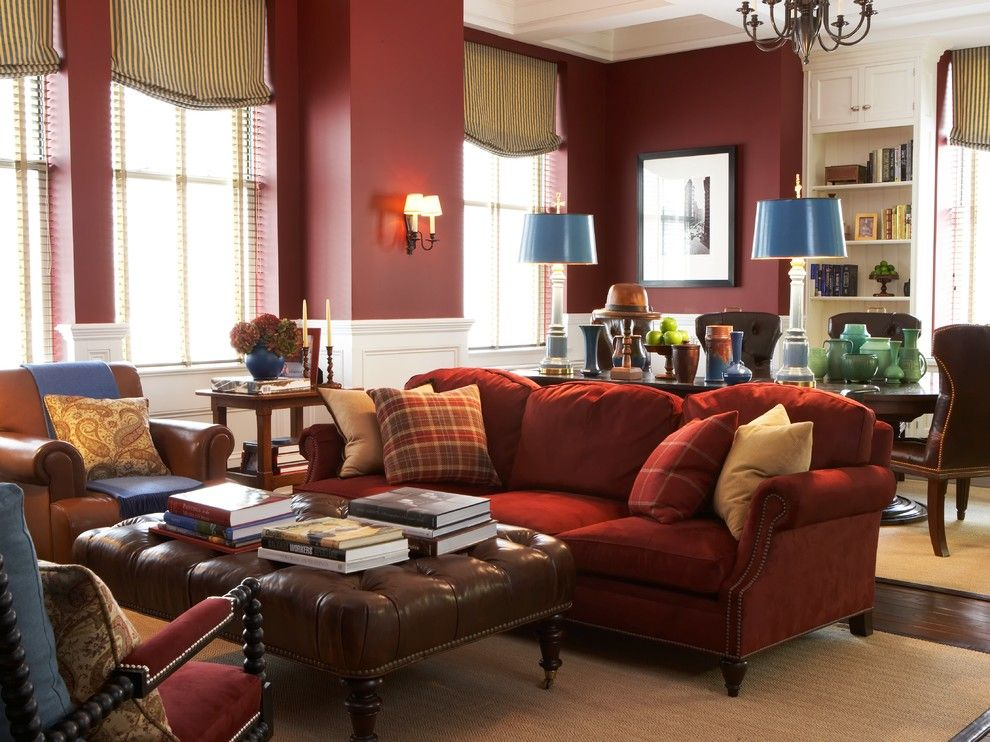 Zack White Leather for a Traditional Living Room with a Wall Sconce and Gramercy Park, Nyc by Scott Sanders Llc