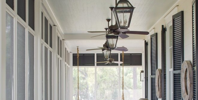 Zanos for a Traditional Porch with a Ceiling Fans and on the Screened Porch by Historical Concepts
