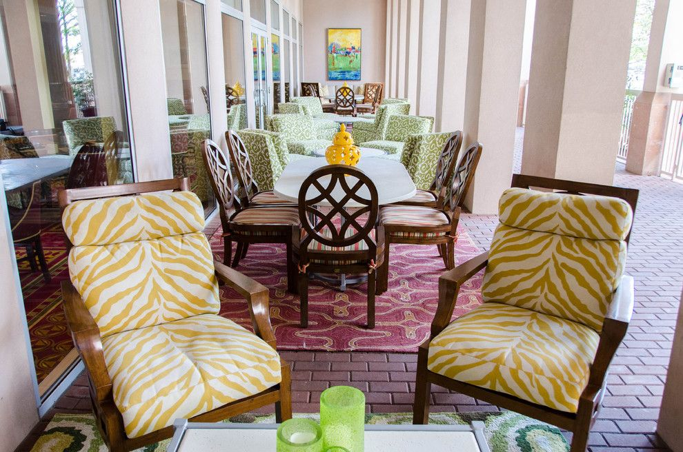 Zaza Hotel Dallas for a Eclectic Patio with a Lime and Marriott Hotel Medical District by Kevin Twitty Interiors